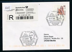 10112) Reco-lettre Ef 2,61 € Do. - Nom. Bg-coin Sst 2006 Cologne Aviation/adenauer-afficher Le Titre D'origine
