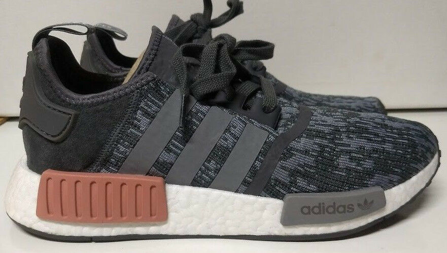 new style eef53 58231 Adidas NMD R1 W Size 9.5 Grey Heather Raw Pink Pink Pink ...