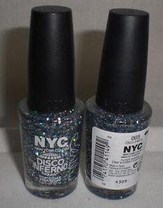 NYC New York Color Nail Polish Disco Inferno Glitter Sparkle Top ...