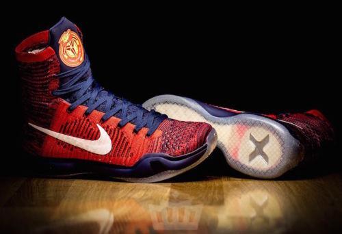 Nike Kobe 10 X Elite American USA Size 10.5. Red Blue. 718763-614. what the