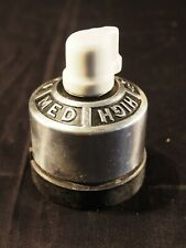 Vintage General Electric Heater Rotary Snap Switch Nickel Porcelain Single Pole