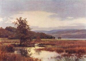 Belle Scotland. Loch Vennachar 1911 Old Antique Vintage Print Picture