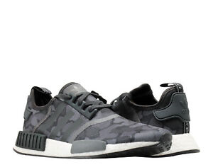 Adidas-NMD-R1-Core-Black-Grey-Duck-Camo-Men-039-s-Running-Shoes-D96616-Size-9-5