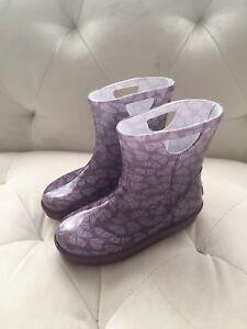 1d3d5105e6f Details about UGG Rahjee Rain boots Little Kids Size 11 Butterfly Print