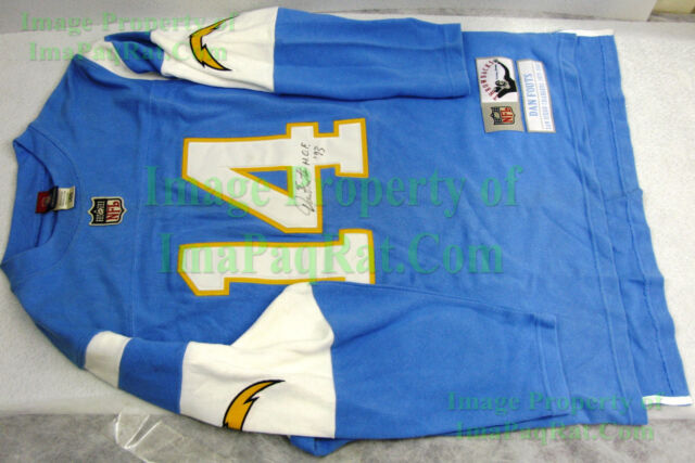 timeless design 243a3 7d875 San Diego Chargers Jersey SIGNED Dan Fouts University of Oregon Ducks NFL  HOF