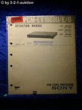 Sony Service Manual PCM EV 1000U /E /B (#1666)