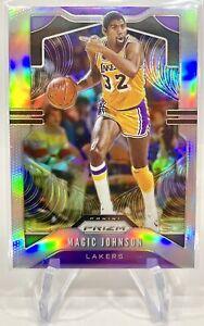 2019-20 Panini Silver Prizm Magic Johnson #25 Los Angeles Lakers (HOF!)