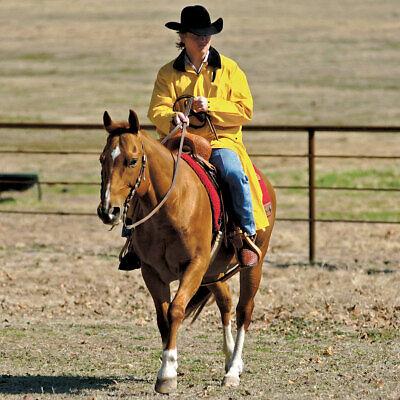 M/&F Western Men/'s Adult Weatherproof PVC Saddle Slicker Rain Coat Yellow