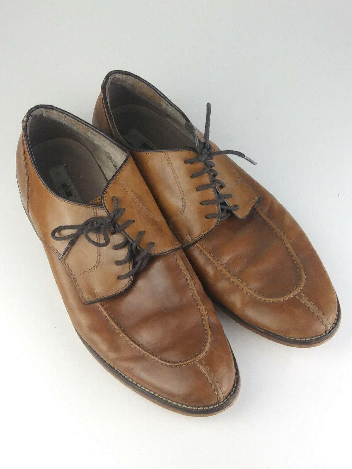 Joseph Abboud Mens Brown Leather Dress Shoes Sz 11