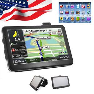 """【USA】7"""" HD Touch Screen CAR TRUCK GPS Navigation Navigator SAT NAV Lifetime MAPS"""