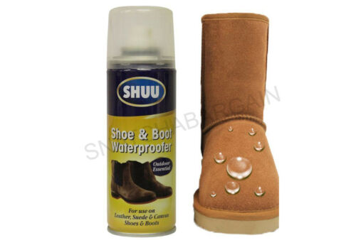 1 x SHUU SHOE & BOOT WATERPROOFER 200ml USE ON LEATHER,SUEDE & CANVAS SHOES