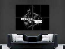 Muhammad Ali Poster imposible no es nada Pared Arte de palabras Boxeo