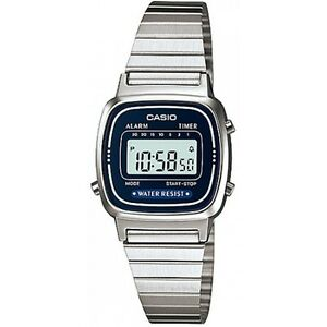 97dfafca4 Details about Casio LA670WA-2 Ladies Silver Classic Stainless Steel Digital  Watch Alarm Timer