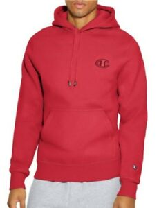 7d9099096ffc Details about Champion Mens Athletic LIFE Super Fleece 2.0 Pullover Hoodie  Red Color