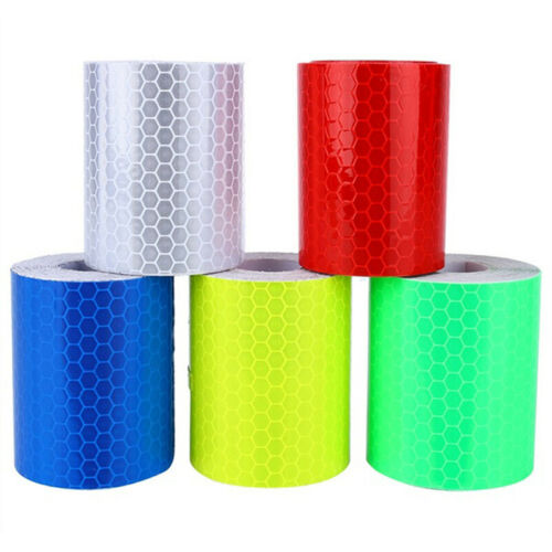 1m*5cm Car Reflective Self-adhesive Safety Warning Tape Roll Film Sticker FD P$T