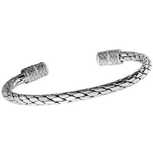 Mens-Solid-925-Sterling-Silver-Bangle-Bracelet-Torque-Bangle-for-Men