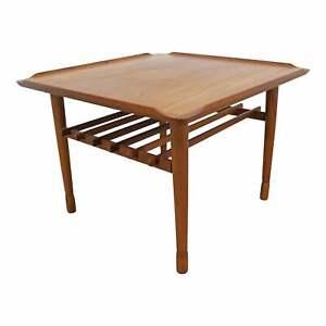 Mid-Century Danish Modern Poul Jensen Selig Style Square End/Side Table