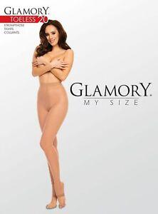 Glamory-Feinstrumpfhose-Toeless-20-20den-Gr-40-42-bis-60-62