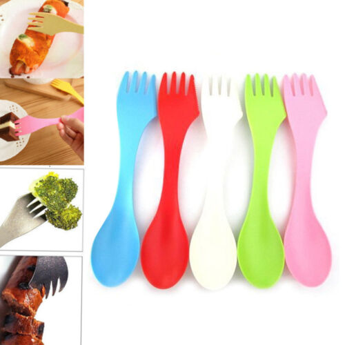 Multi-Use Spork Spoon Fork Cutlery Utensil Combo Outdoor Camping Picnic Kitchen