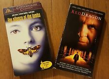 Lot of 2 VHS Hannibal Lector The Silence of Lambs Red Dragon Anthony Hopkins