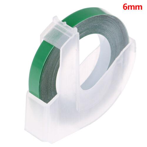 9MM 6MM 12MM 3D Plastic Embossing Tape for Embossing Label Maker PVC La/_fa