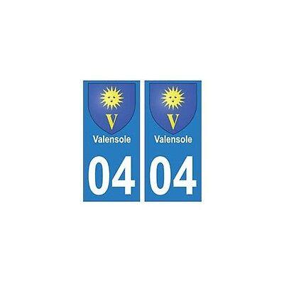 04 Valensole Ville Autocollant Plaque Arrondis Eccellente (In) Qualità