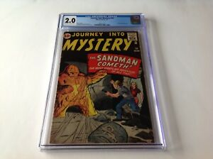 JOURNEY-INTO-MYSTERY-70-CGC-2-0-SANDMAN-PROTOTYPE-KIRBY-DITKO-MARVEL-COMICS