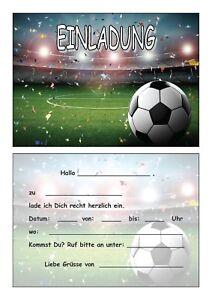Details Zu Einladungskarten Kinder Geburtstag Einladungen Fussball Soccer Stadion Ball