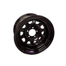"""Bart Wheels D Trucker Black Steel Wheels 15""""x10"""" 5x5.5"""" BC Set of 4"""