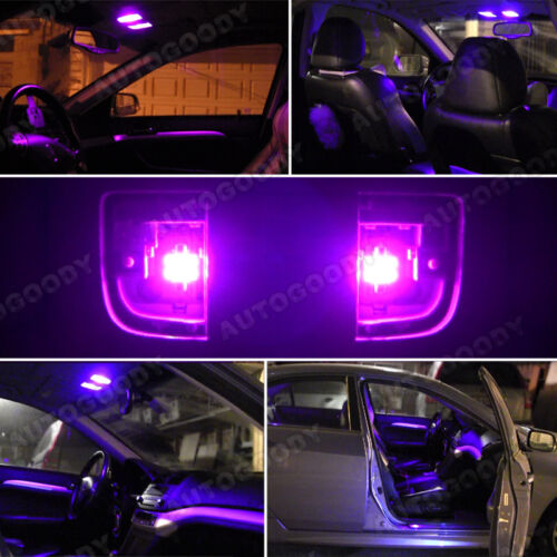 12 x Premium Hot Pink LED Lights Interior Package Kit for Toyota Camry 2007-2017