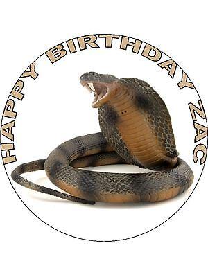 Fantastic 7 5 Icing Sheet Snake Birthday Cake Topper Ebay Funny Birthday Cards Online Overcheapnameinfo