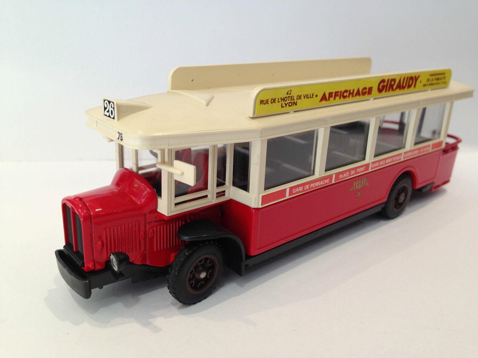 barato y de alta calidad Vintage-Solido-francés juguete juguete juguete camión coche Transporter Bus 1934 Modelo Renault Tn 6c  almacén al por mayor