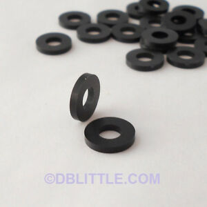 100-PREMIUM-Black-Nylon-10-Washers-for-IT-Telecom-and-Network-Rack-Screws