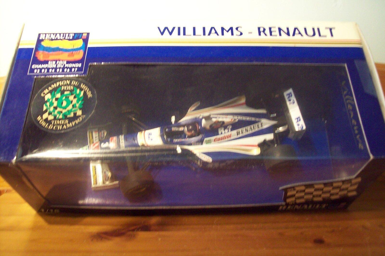 1 18 WILLIAMS RENAULT FW19 JACQUES VILLENEUVE SR. RENAULT 6  CHAMP