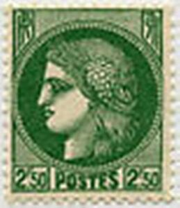 FRANCE-STAMP-TIMBRE-375-034-CERES-2-F-50-VERT-034-NEUF-x-TB