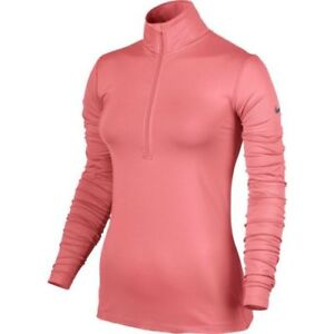 55105ff30fd005  60 NEW NIKE PRO WARM WOMEN S Sunblush Training Jacket Top 803145 ...