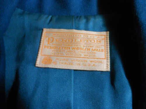 U Made a Wool s Blazer Size In Pendleton Womens 100 14 Blue x0Cawzq7P