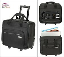 Targus Laptop Case Roller Wheel Black Briefcase Computer Travel Business Bag New