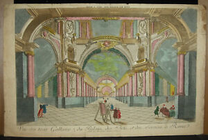 Print-18th-c1770-Palace-Of-Arts-And-Of-Sciences-of-Rome-Italy