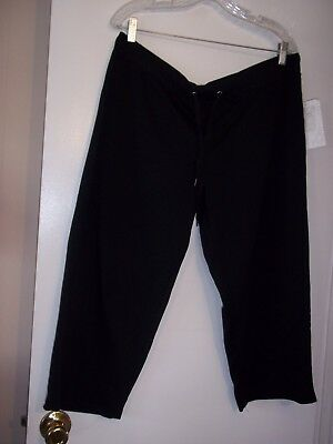 Buy Cheap Nwt Aw Sport By Allyson Whitmore Black Casual Capri Pants Sz Xl Drawstring Women's Clothing