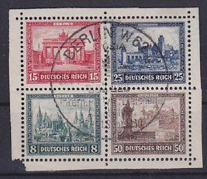 DR-Mi-Nr-446-449-Herzstueck-Block-1-IPOSTA-TOP-rund-SST-Berlin-1930-Dt-Reich