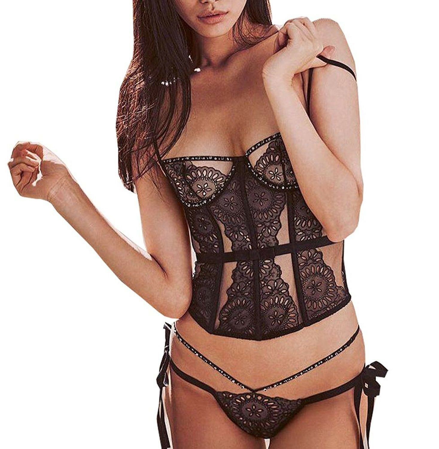 SOLD OUT VICTORIA SECRET DESIGNER COLLECTION CORSET SET32D  M