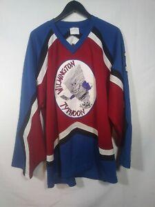 Vtg-Wilmington-Typhoon-Hockey-Jersey-Sz-XL-Minors-1-Penny-Youth-AA-Delaware