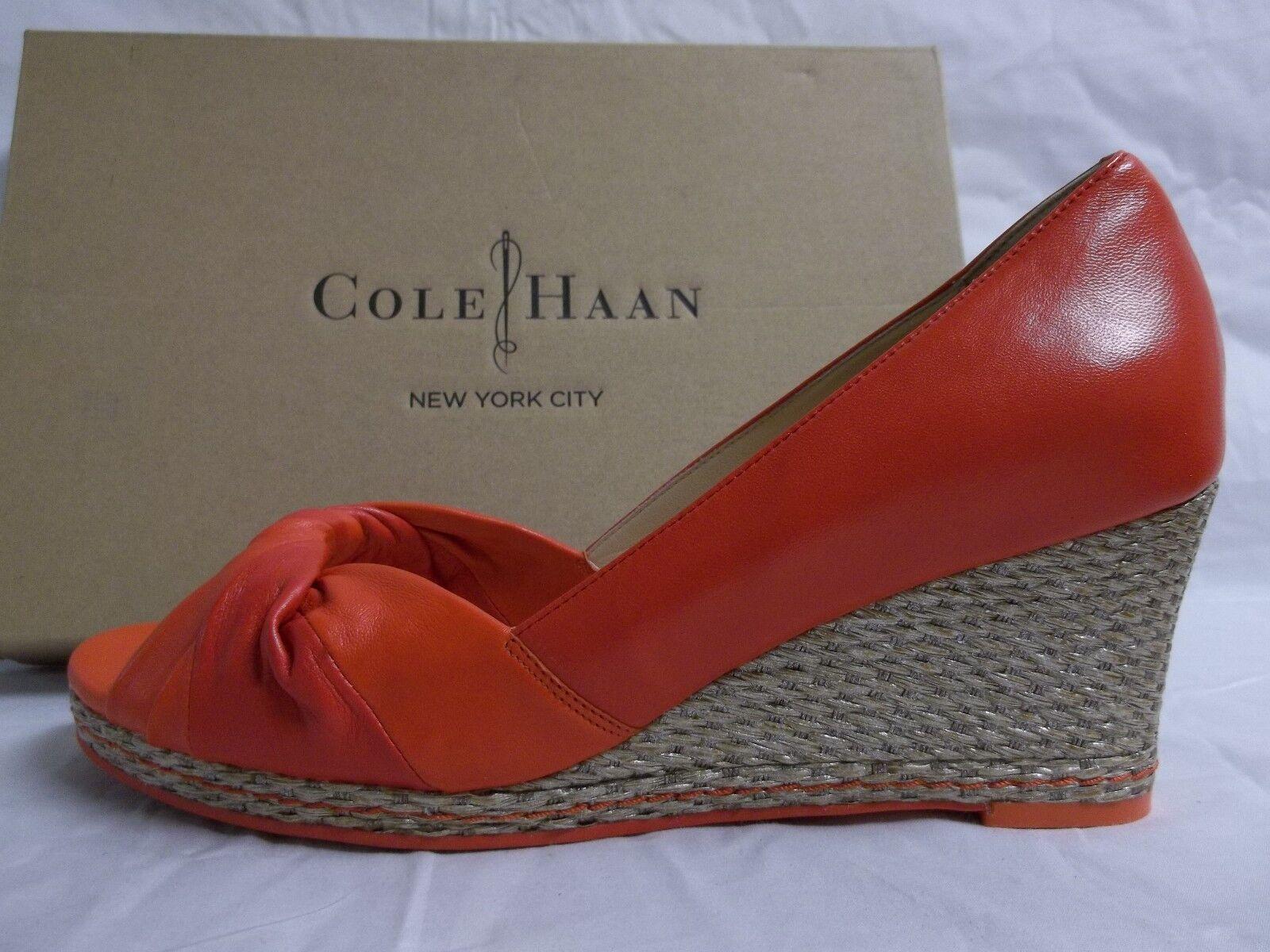 distribuzione globale Cole Haan Dimensione 10 M Ava Ava Ava Cherry Leather Open Toe Wedges New donna scarpe  risparmia il 35% - 70% di sconto