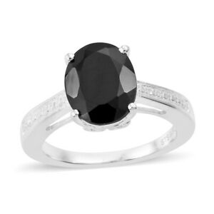 925-Sterling-Silver-Oval-Black-Spinel-Solitaire-Statement-Ring-Cttw-2-7