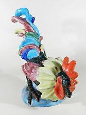 Lilli HUMMEL-KÖNIG Karlsruher Majolika Keramik Figur ° Hahn ° Gockel