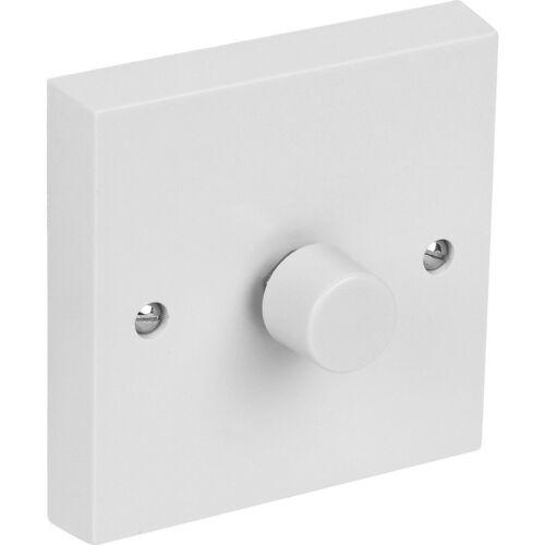 Newlec 1-Gang 1-Way Rotary Dimmer Interrupteur De Lumière 60-250 W 230 V DEL blanche NL1031N