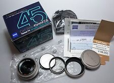 CONTAX Carl Zeiss Tessar 45mm f/2.8 45/2.8 T* 100 Jahre Limited Lens in Box