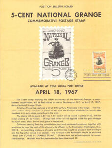 1323-5c-National-Grange-Stamp-Poster-Unofficial-Souvenir-Page-Folded-MC