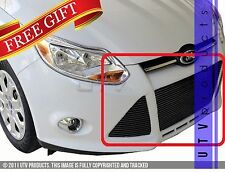 GTG 2012 - 2014 Ford Focus 3PC Gloss Black Replacement Billet Grille Grill Kit